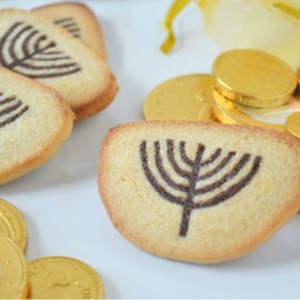 Recipe for Slice & Bake Cookies: Menorah Sugar Cookies for Chanukah.
