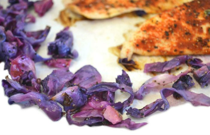 Crunchy and sweet roasted red cabbage