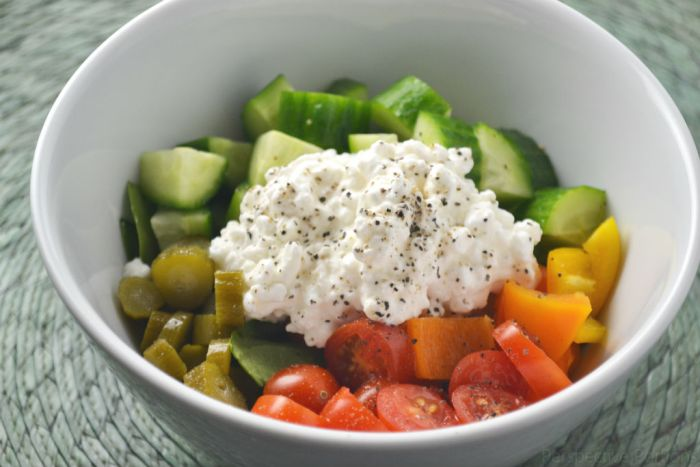 9 Passover Salad Ideas - Cottage Cheese Salad