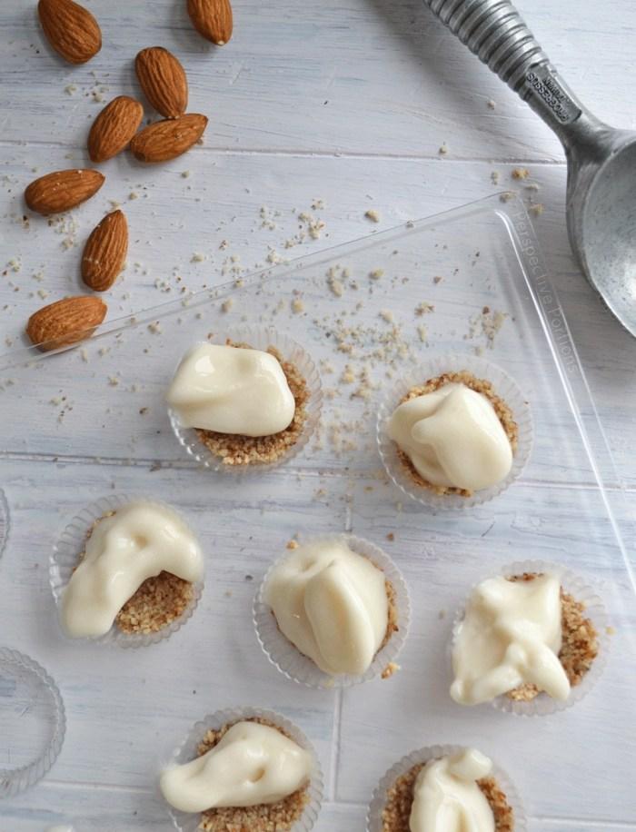 Bite sized almond coated ice cream recipe