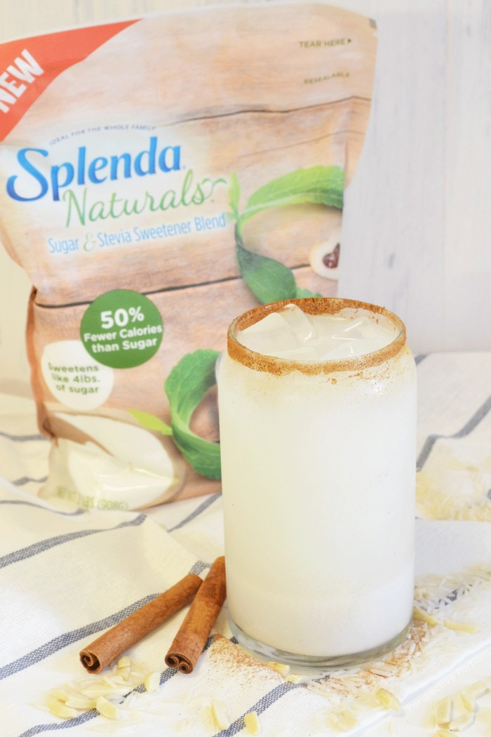 A healthier version of Mexican Horchata. Made with 60% less sugar than traditional recipes and without compromising the sweetness of this refreshing drink.