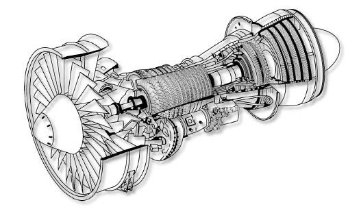 Model Of Turbine Jet Engine Blueprint, Model, Free Engine