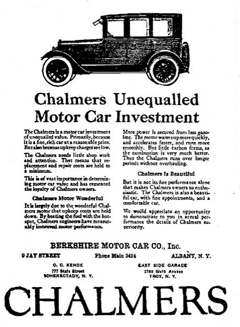 """An ad should tell a complete story. Image """"Berkshire Motor car Chalmers car ad"""" by AlbanyGroup Archive, Flickr, CC-By-2.0"""