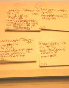 Jury selection sticky notes also ipad or paper pad have  system for tracking information in voir rh persuasivelitigator