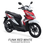 Warna All New Honda BeAT 110 eSP 2016 warna merah putih Funk red white Pertamax7.com