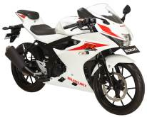 Suzuki GSX-R150 warna putih briliant white