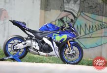 Modifikasi Yamaha R25 Movistar Velg Moge