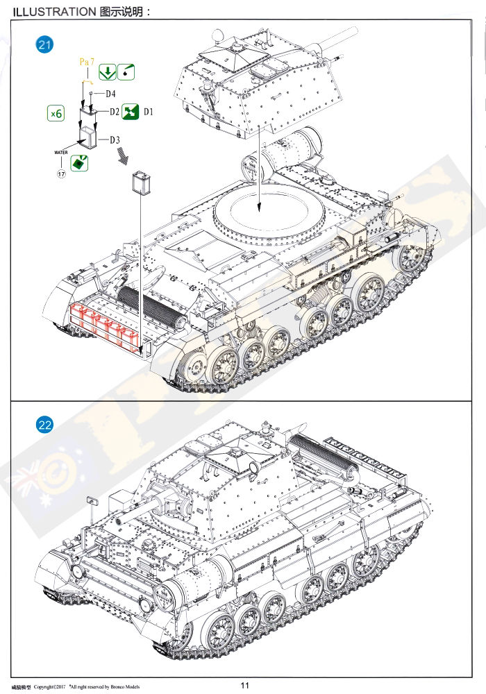 Bronco Models CB35151 Cruiser Tank Mk.IIA/IIA CS British
