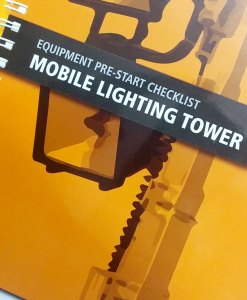 Lighting Tower Pre Start Checklist Books