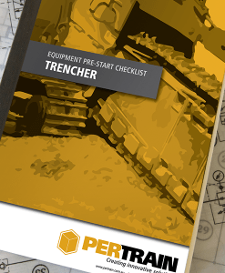 Pre-start checklist books for Trencher