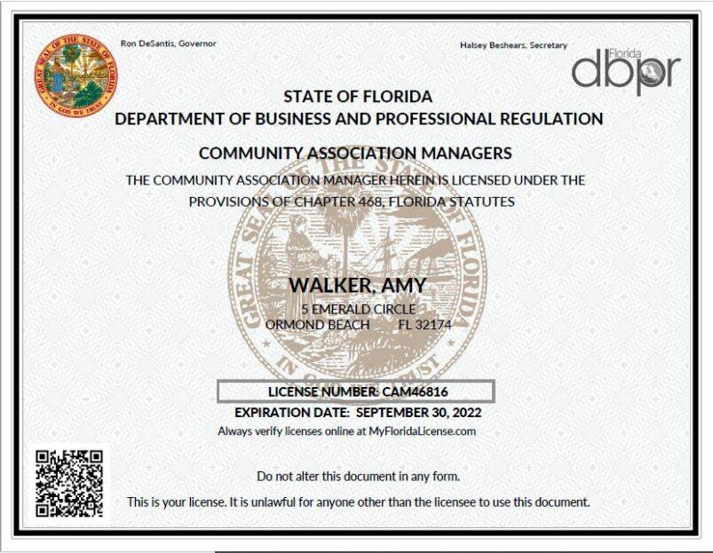 CAM License