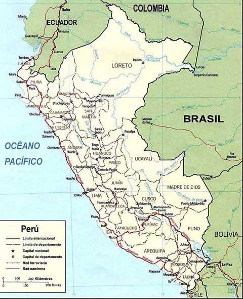 Map Cuzco America South