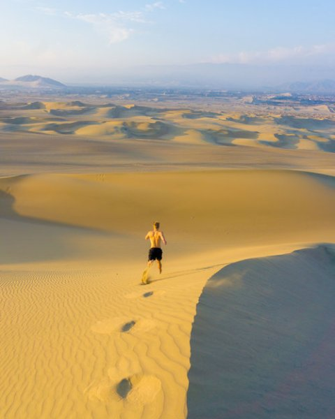 Huacachina dunes in South America