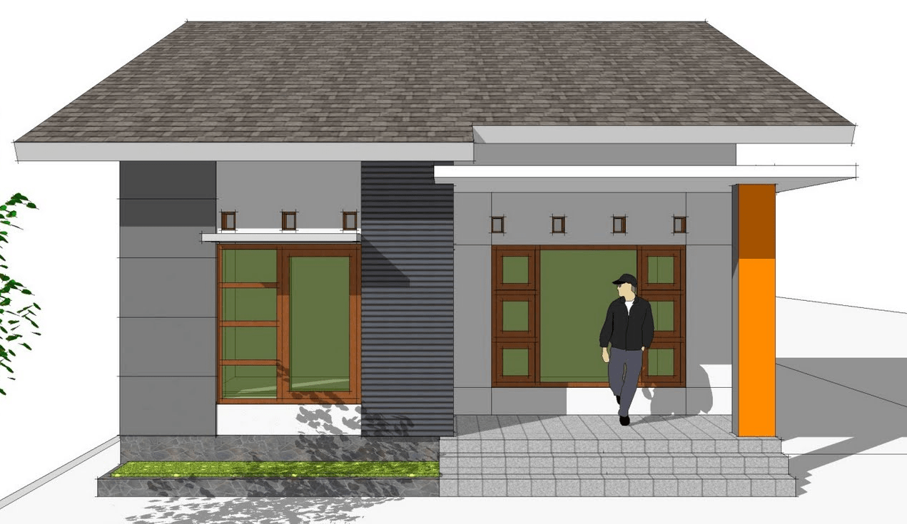 Desain Rumah Pintu Utama Disamping