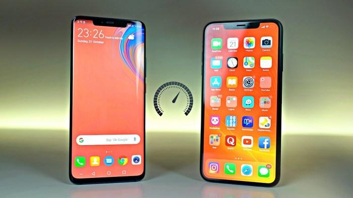 El iPhone Xs Max vence al Huawei Mate 20 Pro en test de velocidad
