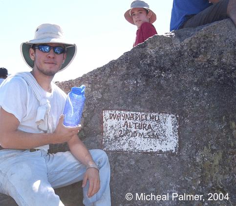 Cristóbal and Benji at the Summit of Huayna Picchu