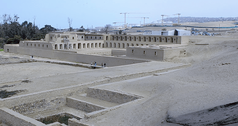 Part of the religious complex at Pachacamac