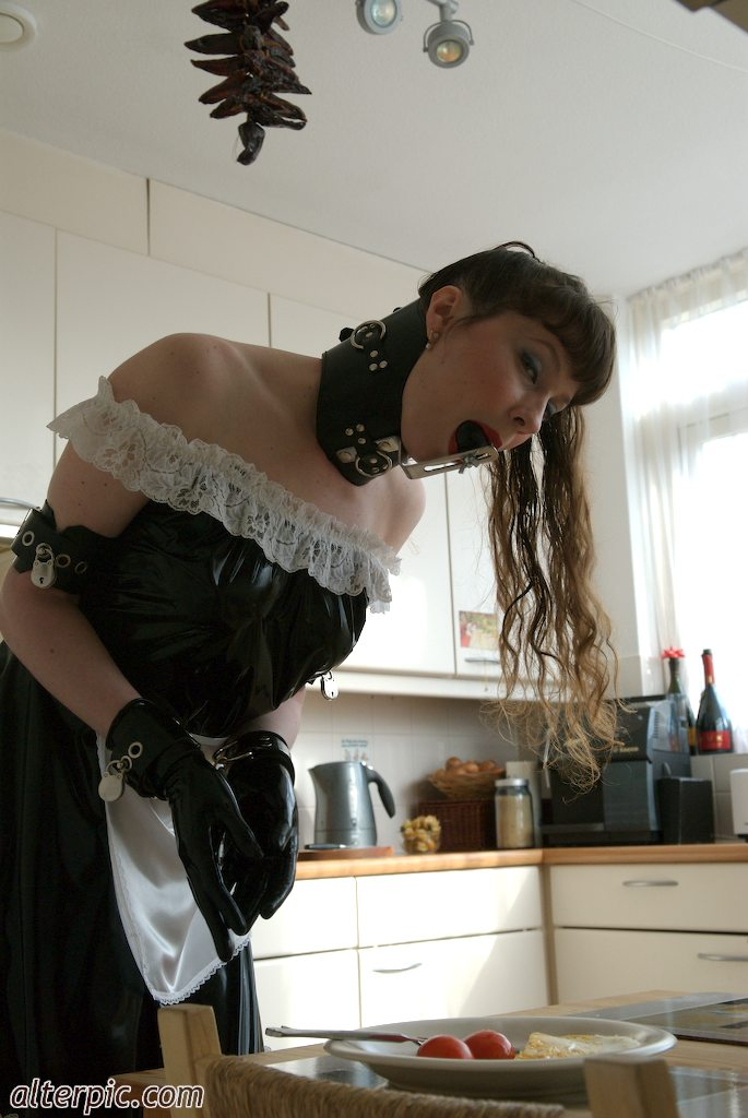 Kinky Kitchen Maid Cooks for her Master