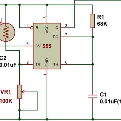 Light Sensitive Switch Circuit Diagram Wiring Trailer South Africa Sensor De Oscuridad Usando 555 Basado En El Modo