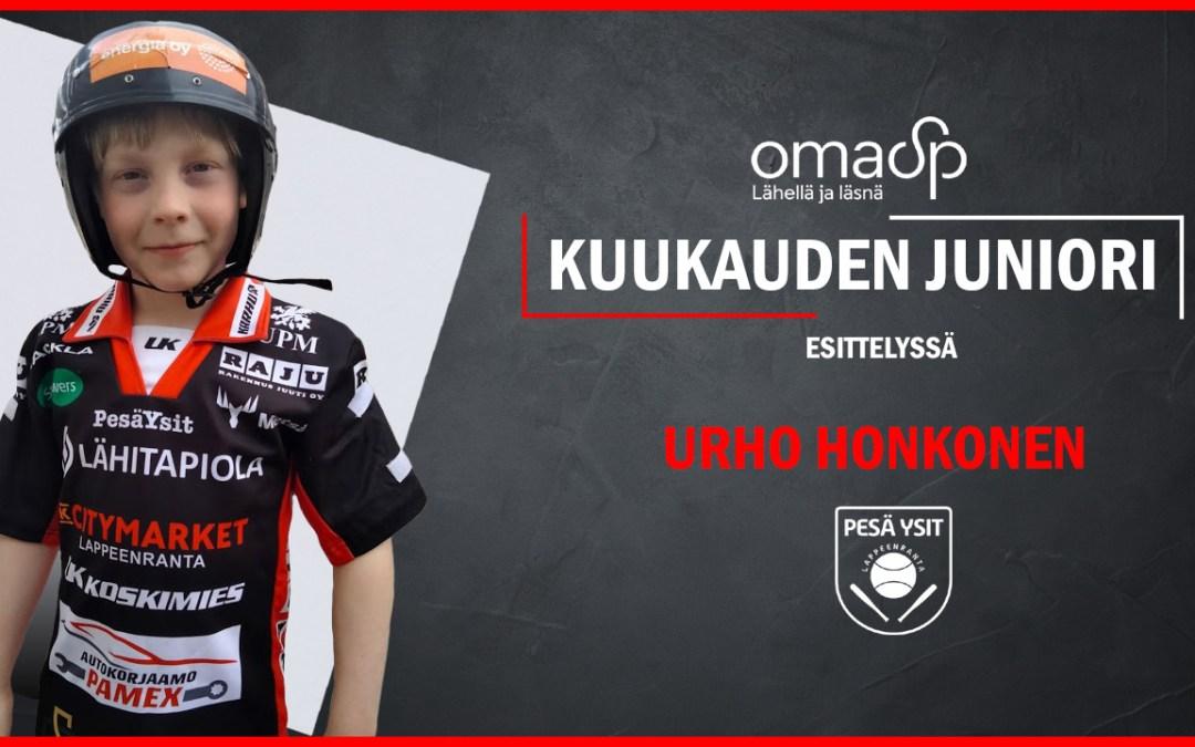 Oma SP esittelee kuukauden juniorin – Urho Honkonen