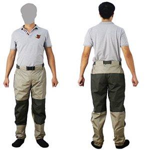 Kylebooker Pantaloni Impermeabili Pesca Waders Traspirante Calza PiedeResistenti alle Intemperie Resistenti ai Pantaloni di Pesca di Mosca di conIl Tessuto Tricot KB003