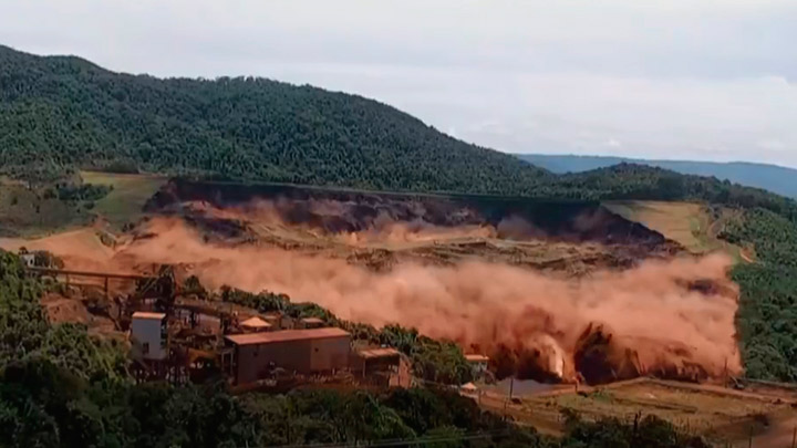 Dam rupture of Vale mining company in Brumadinho-MG