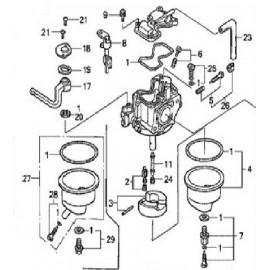 Kit carburateur pour moteur bateau hors bord Honda marine