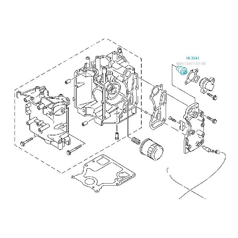 Thermostat moteur hors bord Yamaha de 4 à 100cv, 4 temps