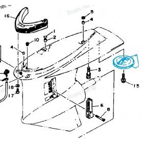 Anode Dérive Yamaha inbord 130-205-230-260 cv. 6T5-45371-00