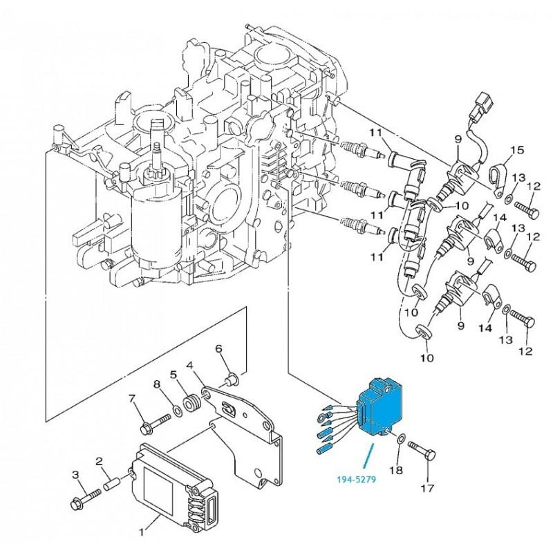 Redresseur moteur hors bord Mercury 40-50-60cv (97-06 )