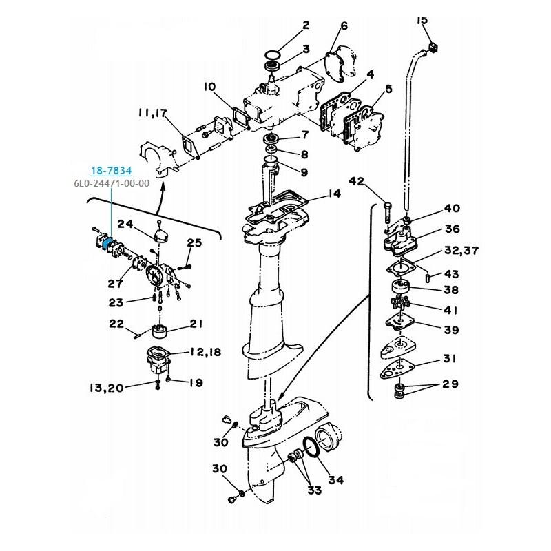 Kit pompe à essencehors bord Yamaha 4cv