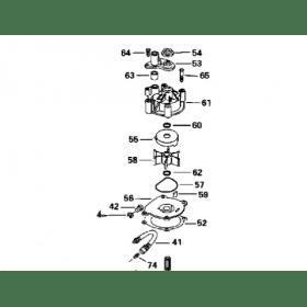 Kit pompe à eau + corps Johnson Evinrude V4, V6 et V8