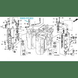 Sonde à Oxygène moteur Honda BF200 et BF225, origine en
