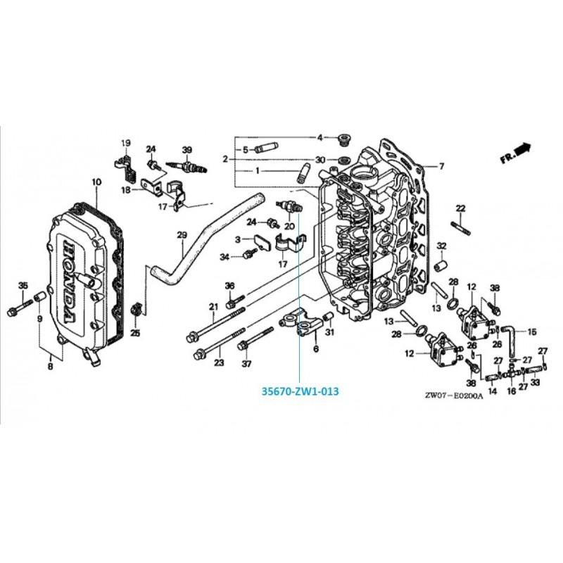 Thermostat hors bord Honda BF75 et BF90, pas cher