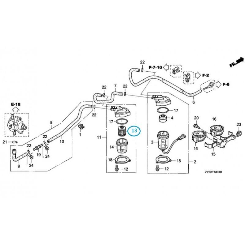 Filtre Essence hors bord Honda BF115, BF135, BF150, BF175