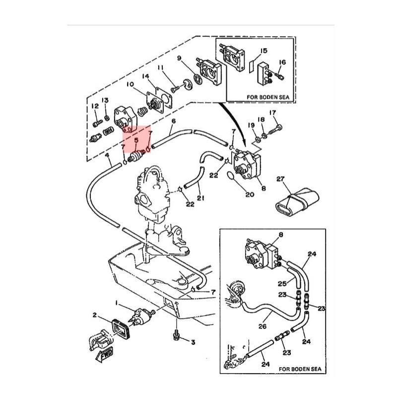 Filtre Essence hors bord Mercury 2 à 15 cv , 35-80365M, en
