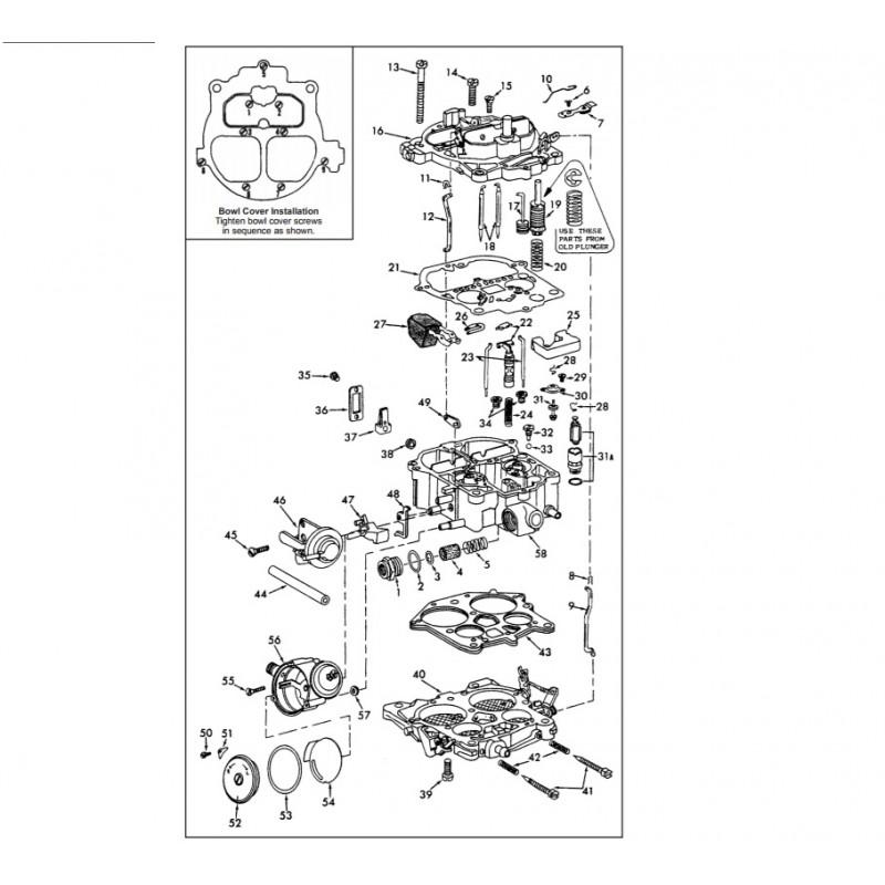 Kit carburateur Rochester pour moteur inbord V8 5.0/5.7/7