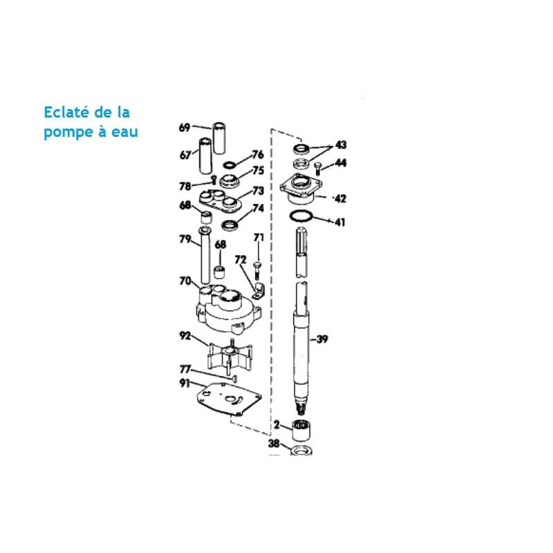 Turbine hors bord Johnson Evinrude 55, 60, 65, 70 et 75 cv