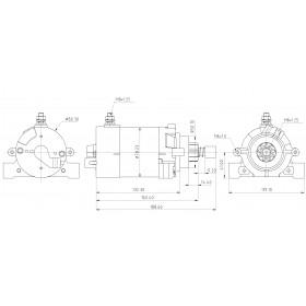 Démarreur moteur Honda BF35, BF40, BF45, BF50