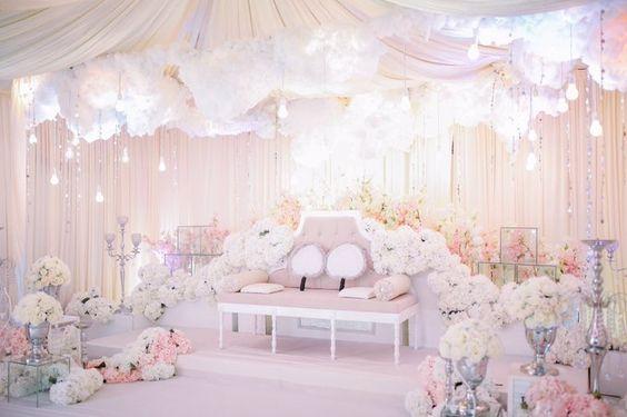 12 Idea Pelamin Tema Putih Untuk Majlis Kahwin  Pesona