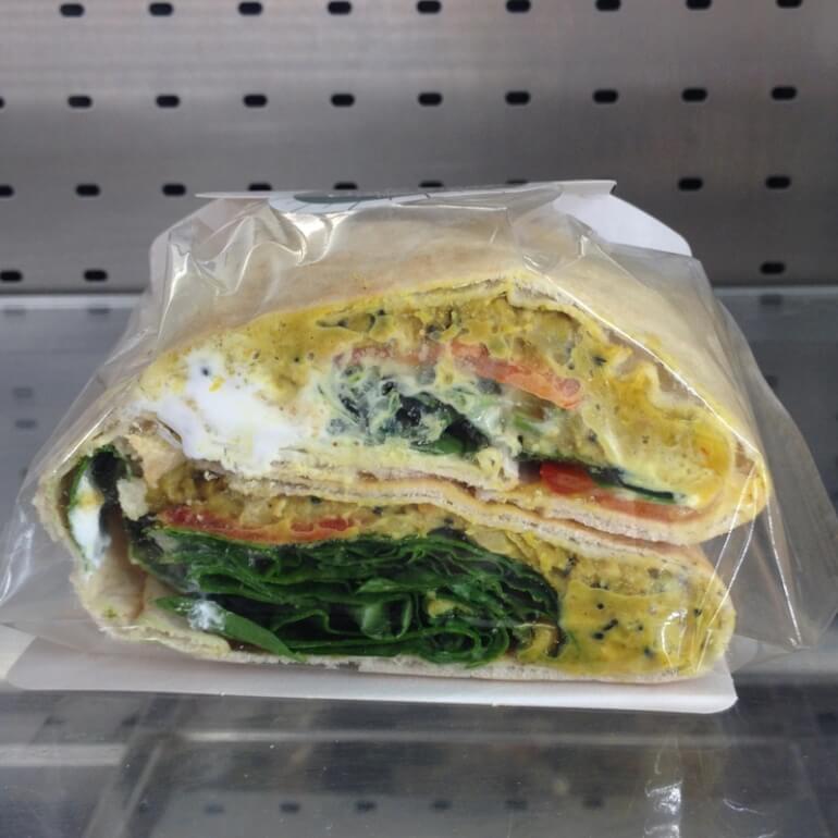 Pret vegan flatbread