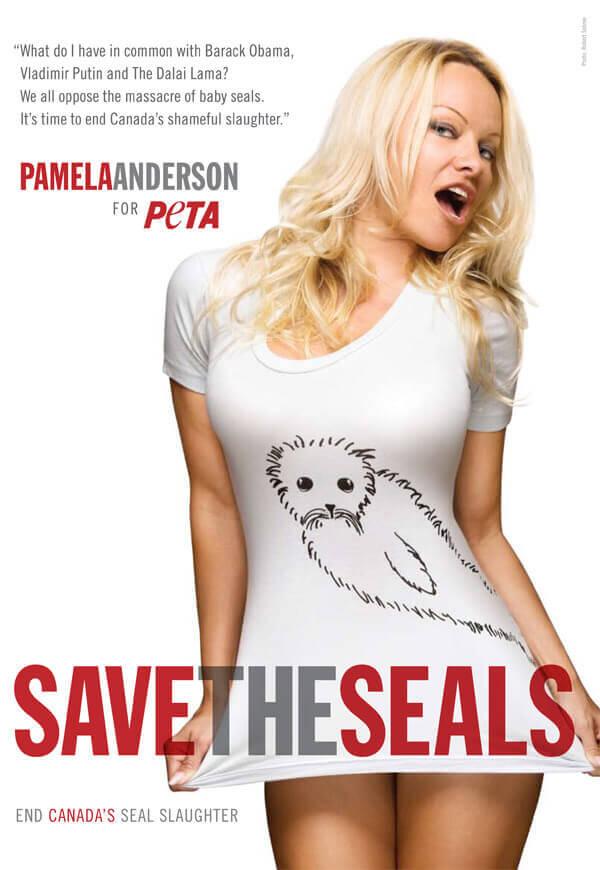 Pamela Anderson Seals PSA