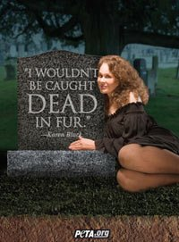 Horror Film Queen Karen Black Was Shot in a Cemetery for a New PETA Ad I Wouldnt Be Caught