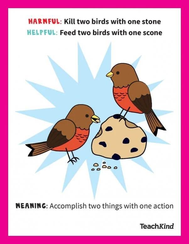 animal friendly idioms that