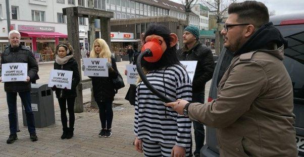 volkswagen inhalation experiment protest