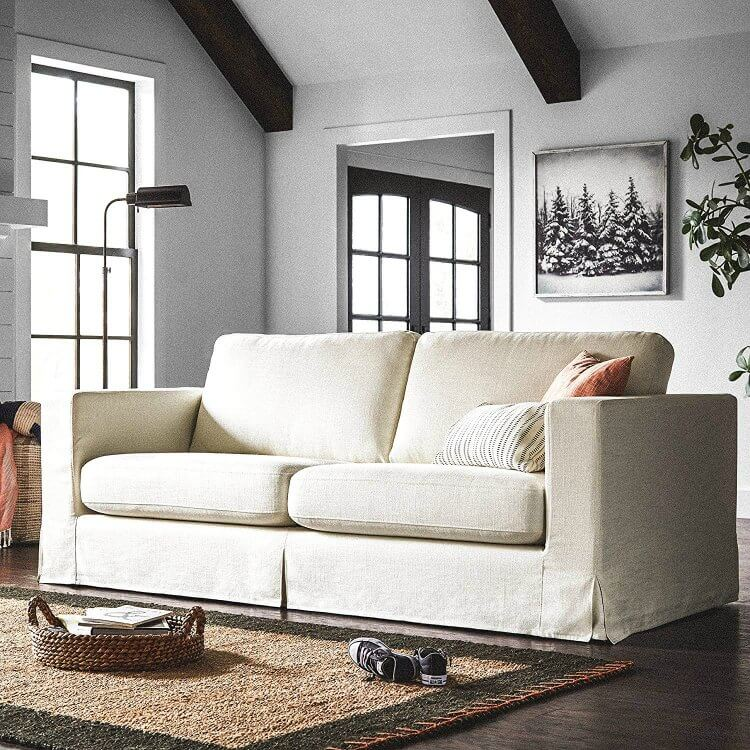 amazon com living room furniture pea and ham soup stylish cozy vegan sofas for every price point peta here s a relaxed looking sofa that can fit in space either modern or traditional i love the soft white material