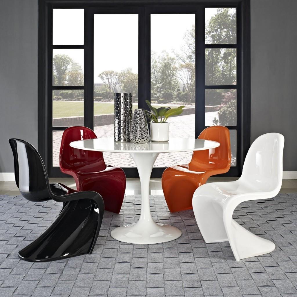 panton s chair modern recliner classic retro dining chairs  petagadget