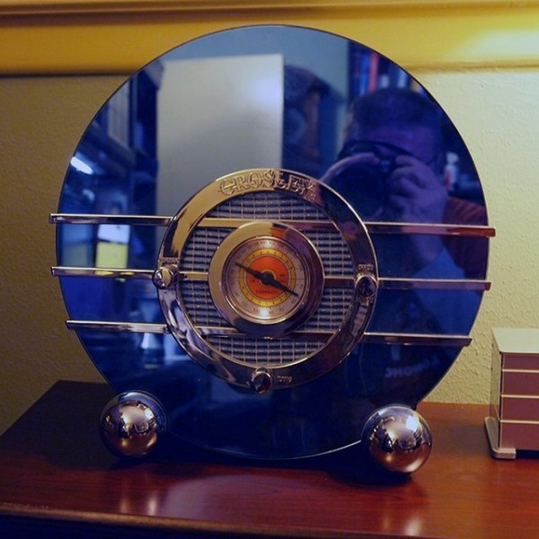 Sale The Deco Haus Tagged Blue: Sublime Gadgets: Crosley 1936 Bluebird Replica Radio