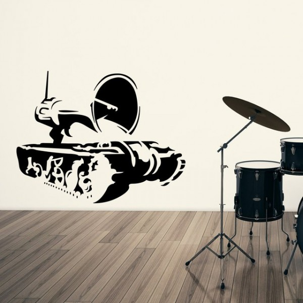 Banksy Propaganda Cannon Wall Decal