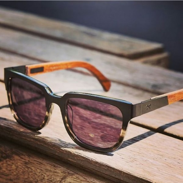 Prescott Black Titanium/Walnut Sunglasses by Shwood